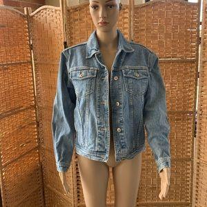 Vintage 80s 90s y2k, denim jean jacket